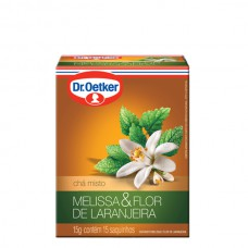 Chá De Melissa Com Flor De Laranjeira - 15 Saches Dr. Oetker 15g