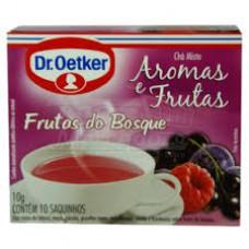 Chá De Groselha Negra, Mirtilo E Framboesa ( Frutas Do Bosque )- 10 Saches Dr. Oetker 10g