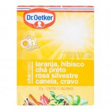 Chá De Laranja,hibisco,preto, Rosa Silvestre,canela E Cravo - 15 Saches Dr. Oetker 30g