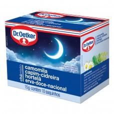 Chá De Camomila,cidreira,hortelã E Erva Doce - 15 Saches Dr. Oetker 22,5g