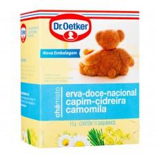 Chá De Erva Doce,capim-cidreira E Camomila - 15 Saches Dr. Oetker 15g