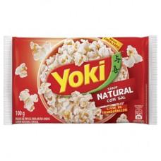 Yoky Popcorn Natural Com Sal 100g