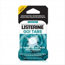 Enxague Bucal Listerine Tablete Mastig.go Tabs Clean Mint Com 4 Unidades