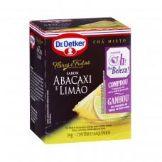 Chá F&f Abacaxi E Limão - 15 Saches  Dr. Oetker 30g