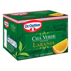 Cha Verde Laranja - 15 Saches Dr. Oetker 25,5g