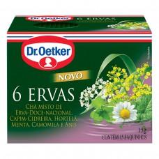 Chá De 6 Ervas - 15 Saches Dr. Oetker 15g