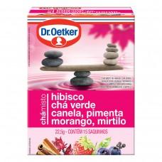 Chá De Hibisco, Verde, Canela,pimenta,morango E Mirtilo - 15 Saches Dr. Oetker 22,5g