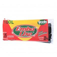 Saco Para Lixo Embalixo Super Econ Preto - 100 Litros - C/ 25 Sacos