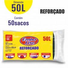 Saco Para Lixo Embalixo ReforÇado - 50 Litros - C/ 50 Sacos