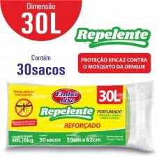 Saco Para Lixo Embalixo Repelente 30l - C/ 30 Sacos