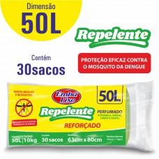 Saco Para Lixo Embalixo Repelente 50l - C/ 30 Sacos