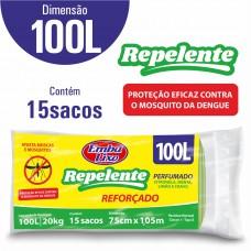 Saco Para Lixo Embalixo Repelente 100l - C/ 15 Sacos
