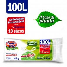 Saco Para Lixo Embalixo SustentÁvel Planta AlÇas  100l - C/ 10 Sacos
