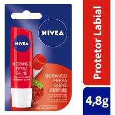 Hidratante Labial Lip Care Sabor Morango Nivea 4,8g