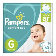 Fraldas Pampers Confort Sec - G 60 Unidades