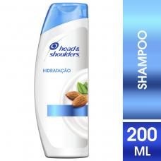 Shampoo Head & Shoulders Hidratação Com Óleo De Amêndoas 200ml