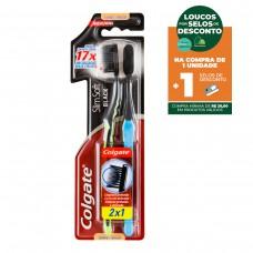 Escova Dental Colgate Slim Soft Black Macia 2un Promo Leve 2 Pague 1