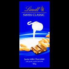 Chocolate Suíço Ao Leite Com Amêndoas Lindt Swiss Classic 100g
