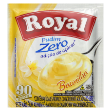 Pudim Zero Açúcar Sabor Baunilha Royal 25g