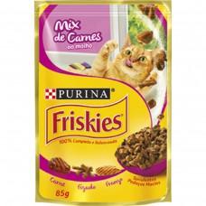 Alimento Friskies Adultos Mix De Carne Ao Molho 85g