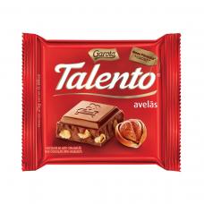 Chocolate Garoto Talento Ao Leite Com Avelãs 25g