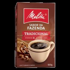 Café Torrado E Moído Tradicional Melitta Sabor Da Fazenda Caixa 500g