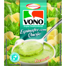 Sopa De Espinafre Com Queijo Vono 16g