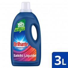 Lava Roupa Líquido Brilhante Limpeza Total 3l