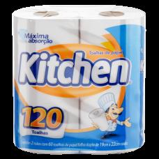 Toalha De Papel Branca Kitchen Com 2 Unidades