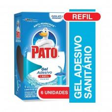 Desodorizador De Sanitário Pato Gel Adesivo Marine Refil 38g Com 6 Unidades