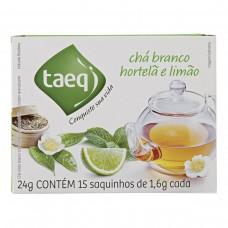Chá Branco De Hortelã Com Limão Taeq Caixa 24g Com 15 Saquinhos