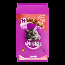 Ração Para Gatos Sabor Carne Com Delícias Crocantes Whiskas 3kg