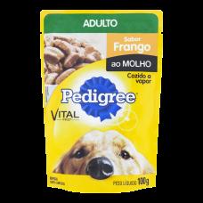 Ração Pedigree Frango Ao Molho Para Cães Adultos Sachê 100g