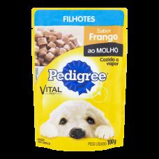 Ração Pedigree Para Cães Filhotes Sabor Frango Ao Molho Sachê 100g