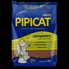 Areia Sanitária Para Gatos Pipicat Perfumado Campestre 4kg