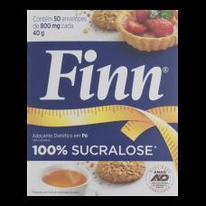 Adoçante De Sucralose Em Pó Finn 40g Caixa Com 50 Envelopes De 800mg
