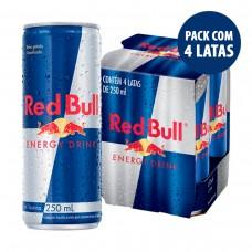 Red Bull Energy Drink 250 Ml - Energético Com 4 Unidades