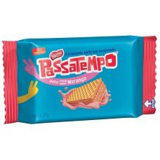 Biscoito Passatempo Mini Wafer Morango 20g