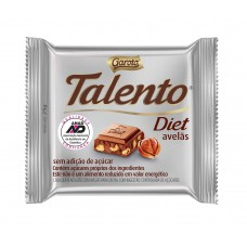 Chocolate Garoto Talento Diet Com Avelâs 25g