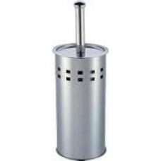 Escova P/ Banheiro C/ Suporte Em Inox Espelhado Coisas  Coisinhas