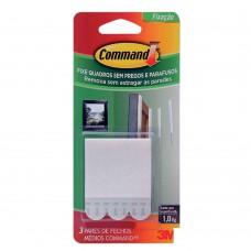 Fecho Adesivo Para Quadrs Médio 6 Peças Plástico Branco 3m Command™