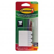 Fecho Adesivo Para Quadros Pequeno 8 Peças Plástico Branco 3m Command™