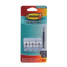 Gancho Adesivo Pequeno 3 Peças Plástico Branco 3m Command™