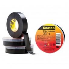 Fita Isolante  19mmx20 M  Scotch™ 33   Preto  3m™