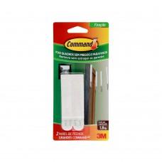 Fecho Adesivo Para Quadros Grande 4 Peças Plástico Branco 3m Command™