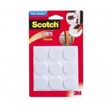 Feltro Sintético Redondo Grande 9 Unidades Branco 3m Scotch