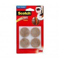 Feltro Para Móveis Leves Redondo Grande 4 Unidades Marrom 3m Scotch®
