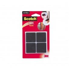 Protetor Anti Deslizante Quadrado Extra Grande 4 Unidades Preto 3m Scotch®