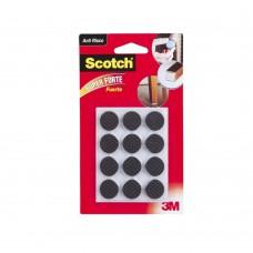 Anti-deslizante Redondo Pequeno 12 Unidades Preto 3m Scotch
