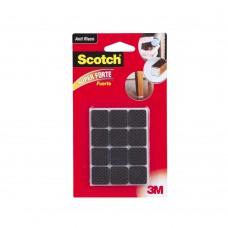 Protetor Anti Deslizante Quadrado Pequeno 12 Unidades Preto 3m Scotch®